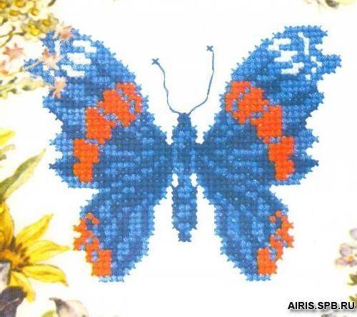 339 Набор для вышивания РC-Студия 'Бабочка синяя' 11*13 см