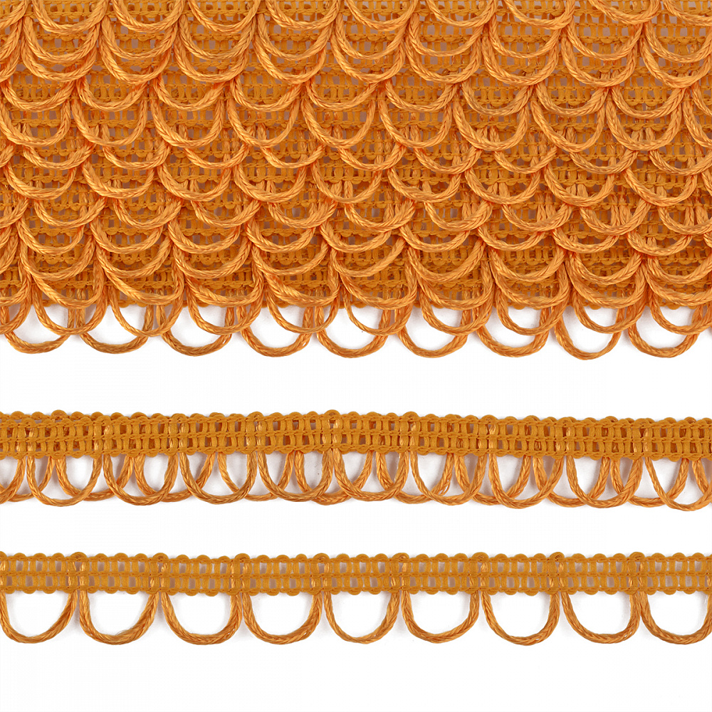 Тесьма отделочная UU цв.122 желтый шир.18-19мм уп.16,45м, ОТДUU122ЖЕЛТЫЙ
