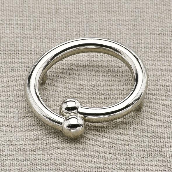 Пуговица металл ПМ24 никель, 2135001249832