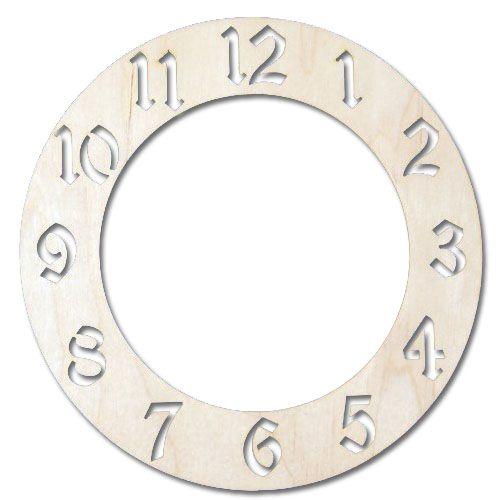 L-37 Деревянная заготовка круг для циферблата №3 'Арабский', 24*24 см, 'Астра'