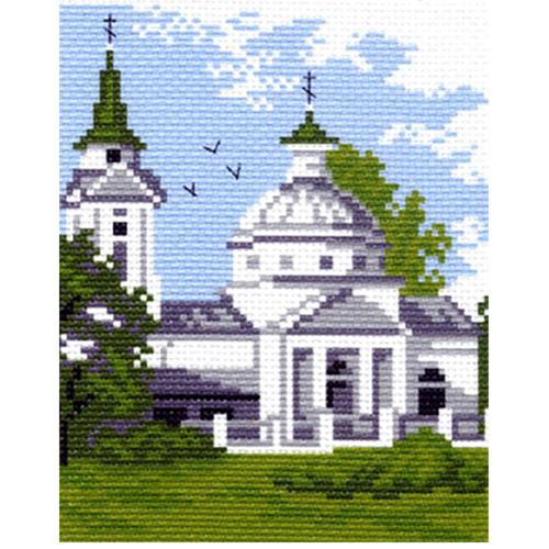 0481 Канва с рисунком Матренин посад 'Церковь' 16*20 см (10*12 см)