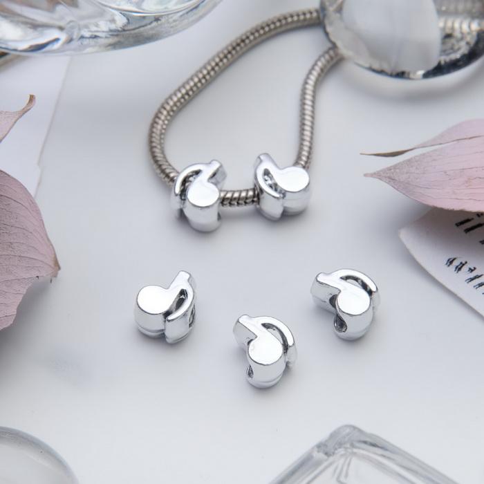 3925082 Подвеска 'Нотка', цвет серебро