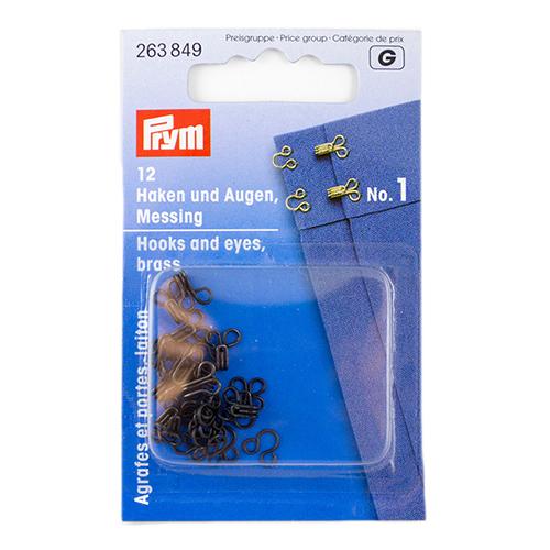 263849 Крючки и петли (латунь) 1 черный цв. Prym