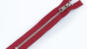 Молния металл №5 ТТ никель н/раз 18см D171 красный, 2135001298083