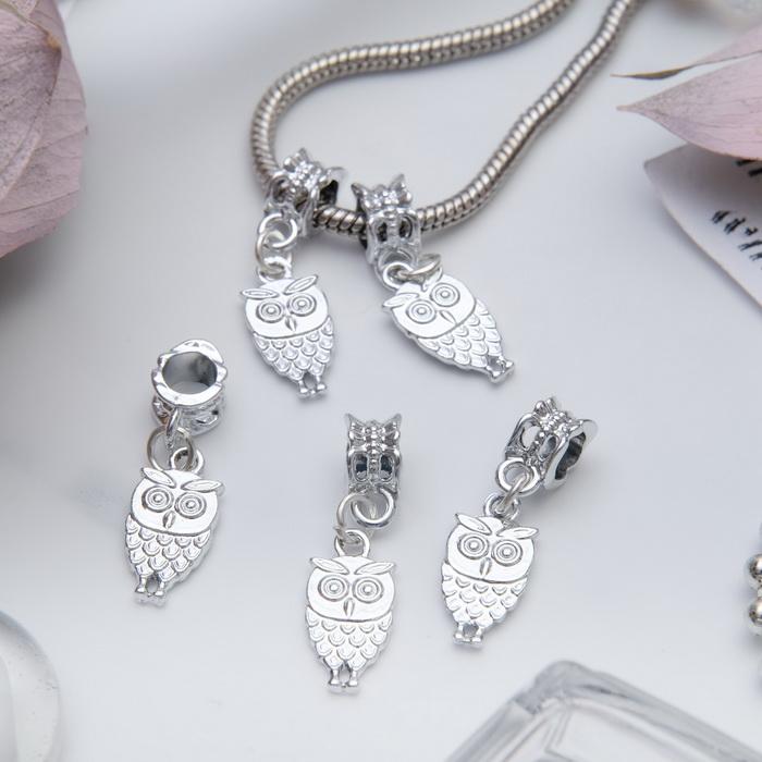 3925091 Подвеска 'Филин', цвет серебро