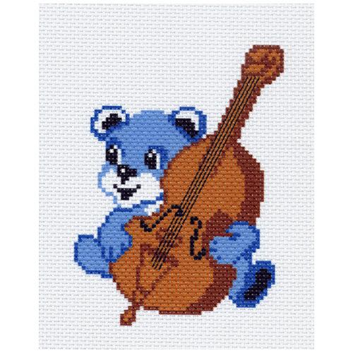 0926 Канва с рисунком Матренин посад 'Музыкант' 16*20 см (10*12 см)