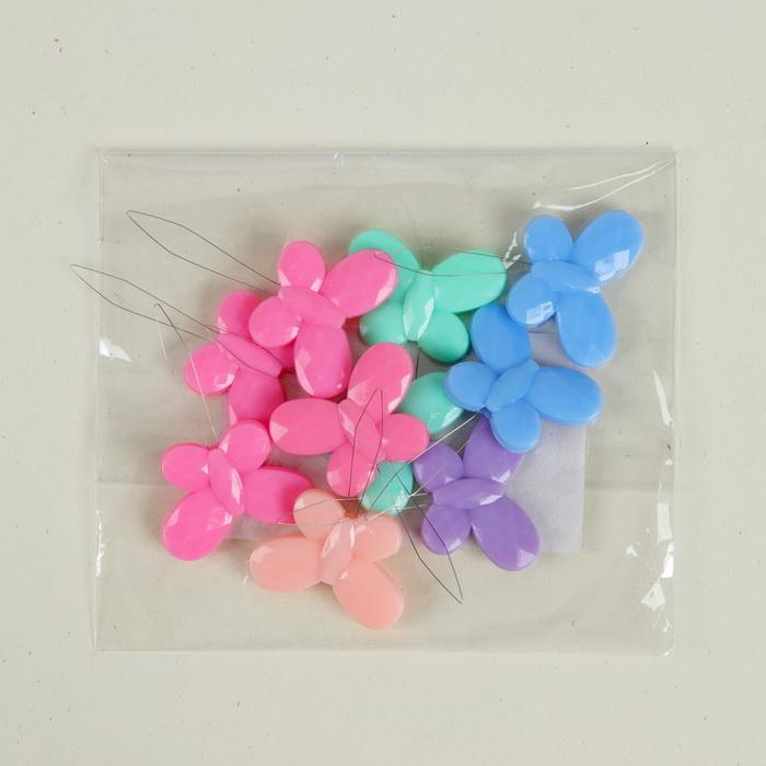3952940 Нитевдеватель бабочка пластик 3,5*2,2*0,2см (наб 10шт ) МИКС