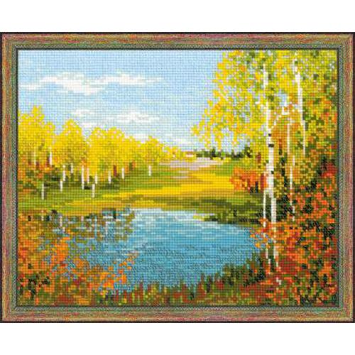 1542 Набор для вышивания Riolis' 'Осенний день', 30*24 см