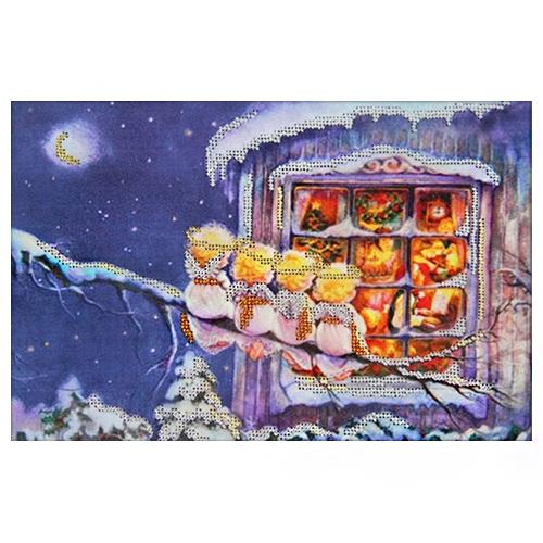 62007 Набор для вышивания бисером Astrea 'С рождеством' 30х20см