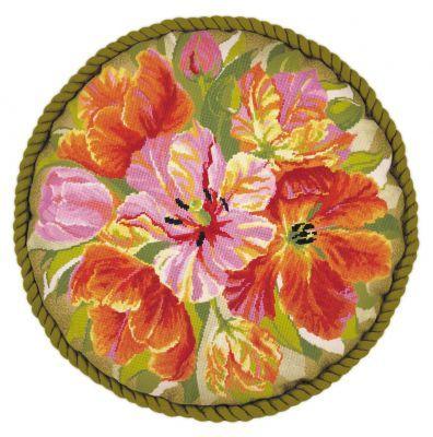 1500 Набор для вышивания Riolis подушка 'Тюльпаны', 45*45 см
