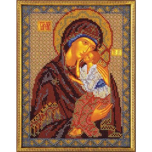 В152 Набор для вышивания бисером 'Кроше' 'Ярославская Богородица', 20x25 см