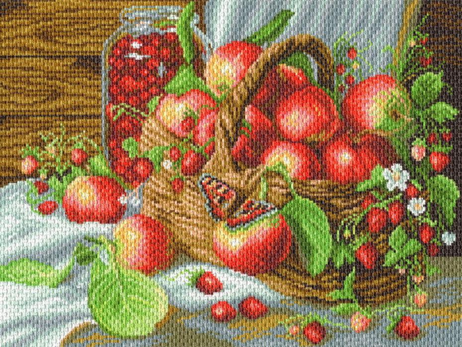 1782/Н Набор для вышивания Матренин Посад 'Деревенский урожай' 37*49см