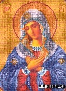 В153 Набор для вышивания бисером 'Кроше' 'Умиление Богородица', 20x25 см