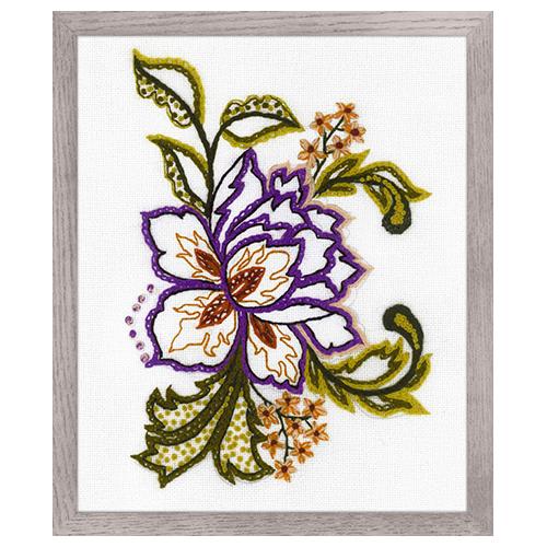 1687 Набор для вышивания Риолис 'Цветочный этюд' 15*18см