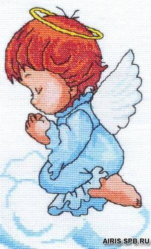 0131 Набор для вышивания Nitex 'Ангелочек', 13х21 см