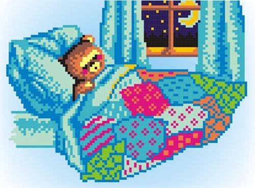 КН-436 Набор для вышивания 'МП Студия' 'Спокойной ночи', 14х21 см
