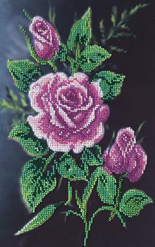 30/Б Набор для вышивания бисером 'Матренин посад' 'Роза в ночи', 28*34 см