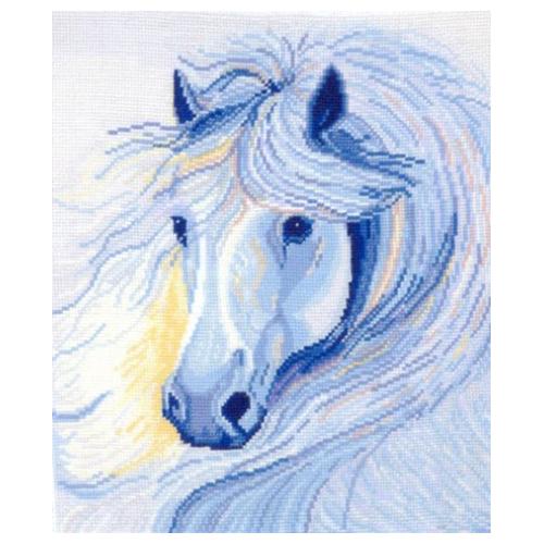 Б-14 Набор для вышивания 'Белогривая лошадь', 26*28 см