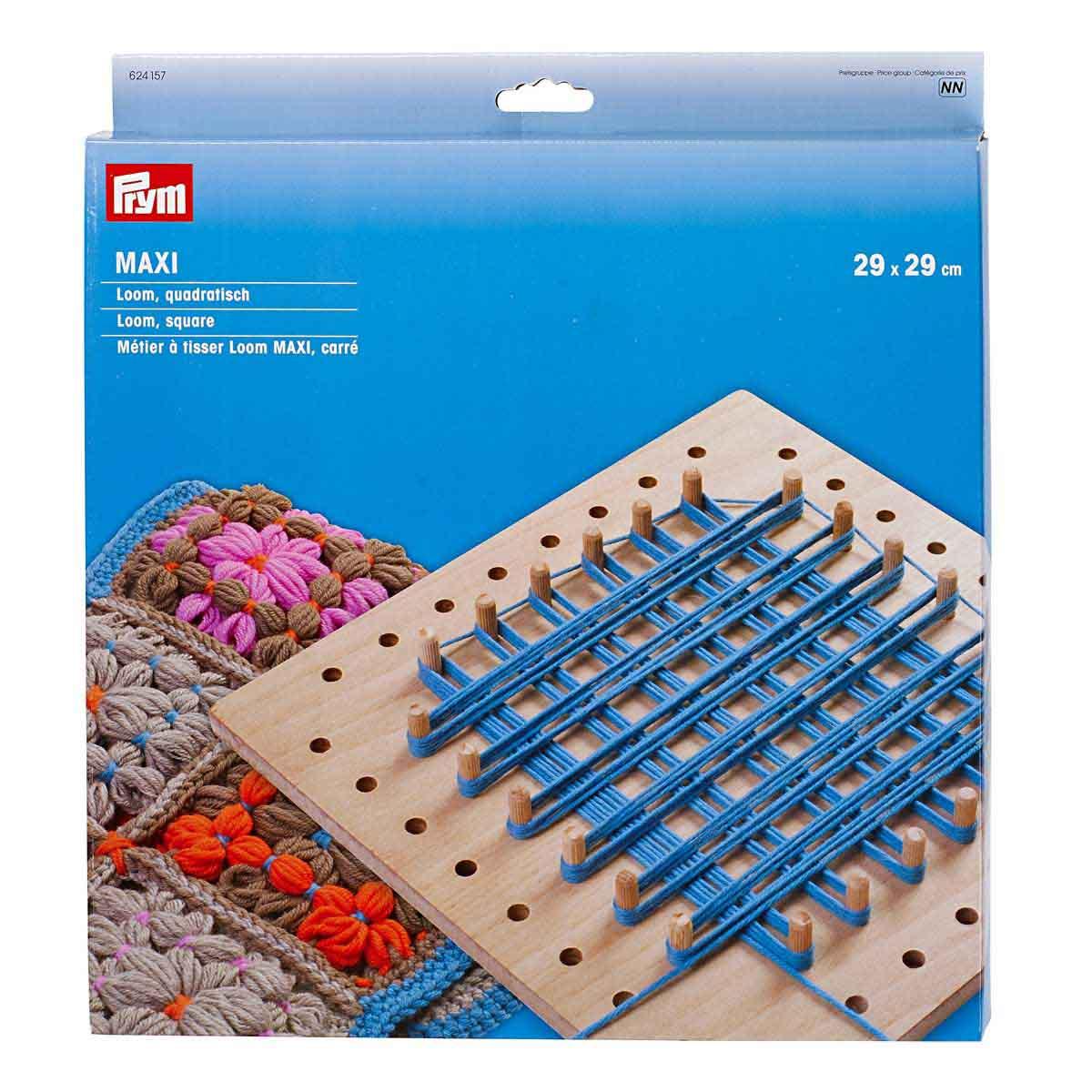 624157 Основа для плетения на колышках Loom MAXI, квадрат.1шт. 29*29cм Prym