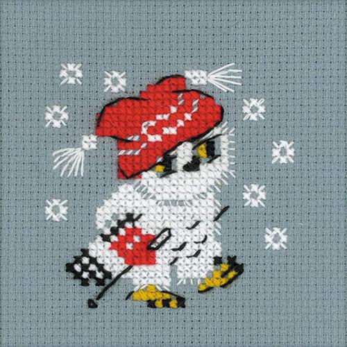 1667 Набор для вышивания Риолис 'Снежок'9*9см