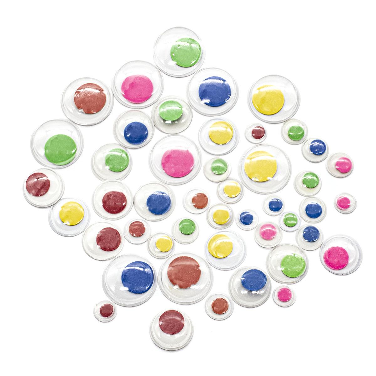 GPKK-AS/01 Глазки для игрушек пластмассовые круглые 'Рукоделие' упак/75шт. (ассорти цветов/размеров)