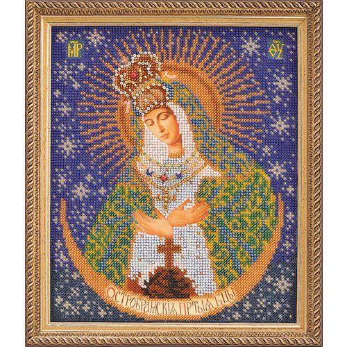 В161 Набор для вышивания бисером 'Кроше' 'Острабрамская Богородица', 20x24 см