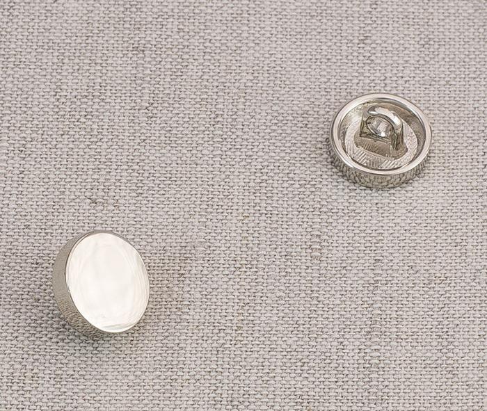 Пуговица металл ПМ58 11мм никель глянец, 2135001264965
