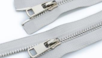 Молния металл №5 ТТ никель два замка 110см D165 св.серый, 2135001298021