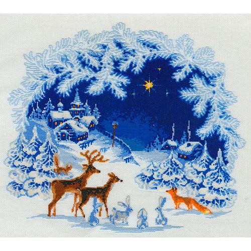 793 Набор для вышивания Riolis 'Рождество', 45*45 см