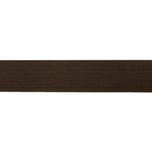 15-3848/9707 Резинка вязаная 25мм*25м т.коричневый