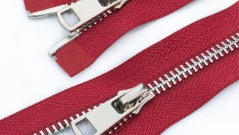 Молния металл №5 ТТ никель два замка 110см D171 красный, 2135001298113