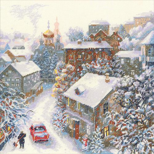 1678 Набор для вышивания Риолис 'Снежная зима'30*30см