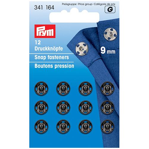 341164 Пришивные кнопки (латунь) черный цв 9 мм Prym
