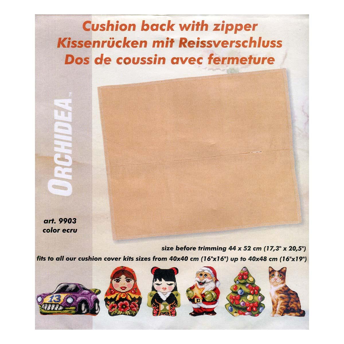 9903 ORCHIDEA Обратная сторона подушки, 44х52 см, цвет бежевый