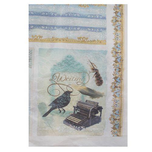 QSIPM039M Декупажная бумага рисовая ARMONY лист 50х70см Renkalik