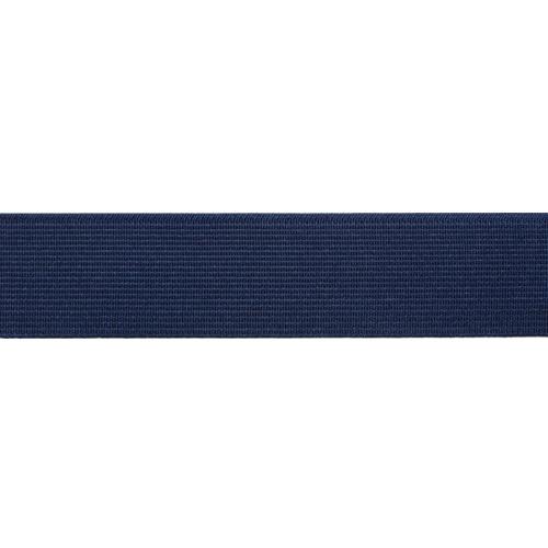 15-3848/9882 Резинка вязаная 25мм*25м т.синий