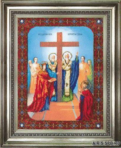 Б-1084 Набор для вышивания бисером Чарівна Мить 'Икона Воздвижение Креста Господня' 27,5*36,5см