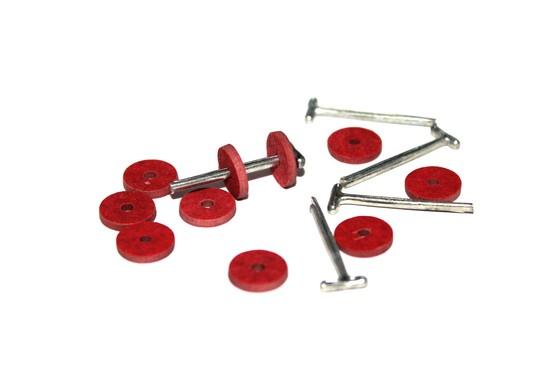 23531 Набор креплений фибра № 9 для игрушек, упак. :10 дисков 9мм, 5 Т-образных шплинтов 1,6 см.