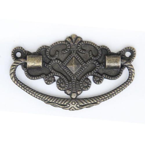 Ручка декоративная для шкатулок 37*72 мм, 2шт бронза