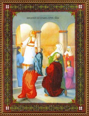 Б-1085 Набор для вышивания бисером 'Чарівна Мить' 'Ик. Введение во храм Пресв. Богородицы', 27,5*36,9 см