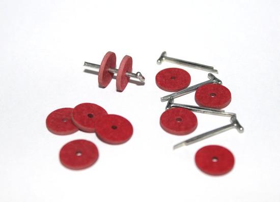23532 Набор креплений фибра №12 для игрушек, упак. :10 дисков 12мм, 5 Т-образных шплинтов 1,6 см.