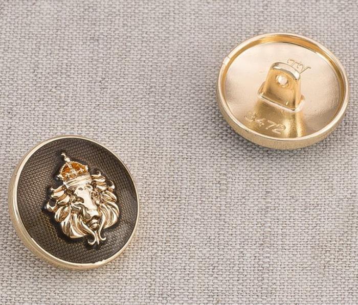 Пуговица металл ПМ71 20мм золото эмаль Герб, 2135001265252