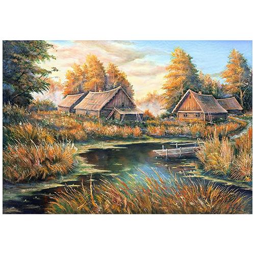1872/Н Набор для вышивания Матренин Посад 'Осень в деревне'28*37см