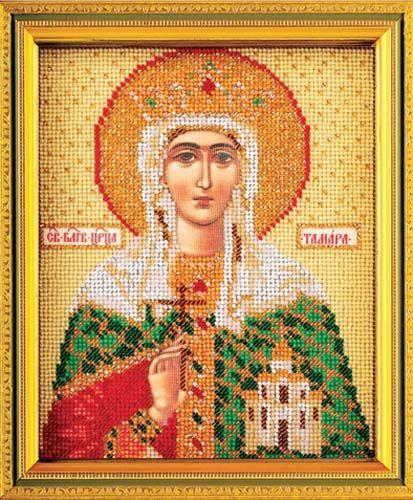 В345 Набор для вышивания бисером 'Кроше' 'Св. Тамара', 12х14,5 см