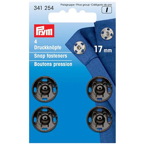 341254 Пришивные кнопки (латунь) черный цв. 17 мм Prym
