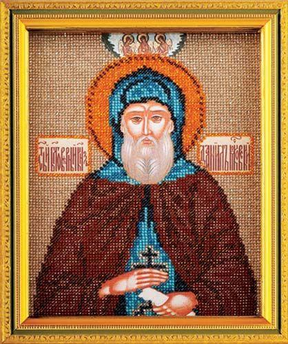 В348 Набор для вышивания бисером 'Кроше' 'Св. Даниил', 12х14,5 см