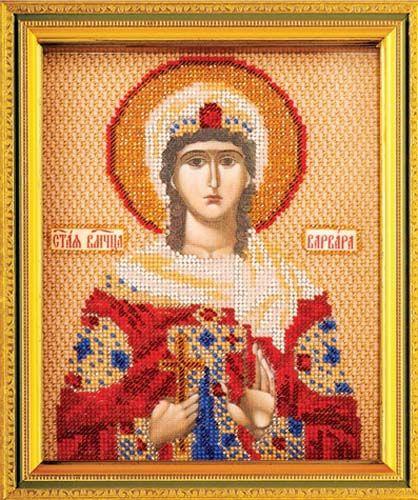 В351 Набор для вышивания бисером 'Кроше' 'Св. Варвара', 12х14,5 см