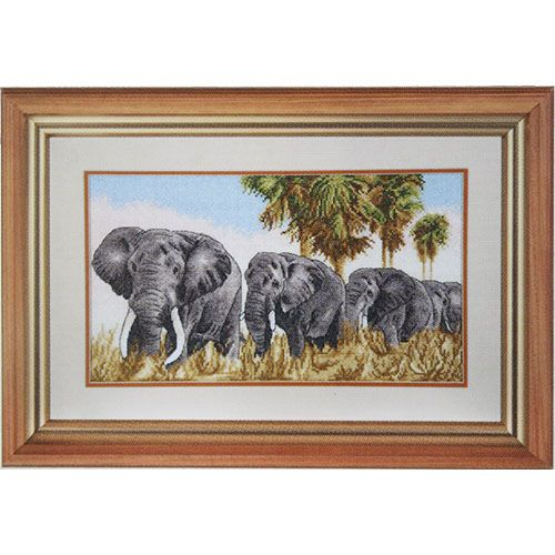 791 Набор для вышивания Hobby&Pro 'Прогулка под пальмами', 38*22 см