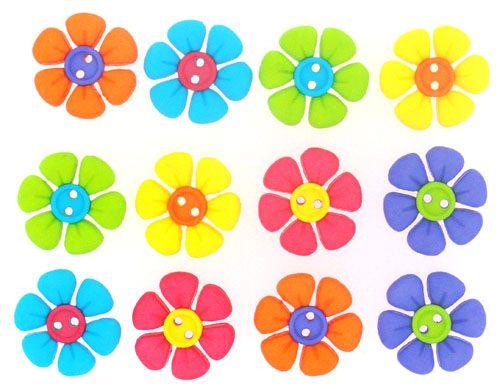 7691, Декоративные пуговицы. Цветы Dress It Up