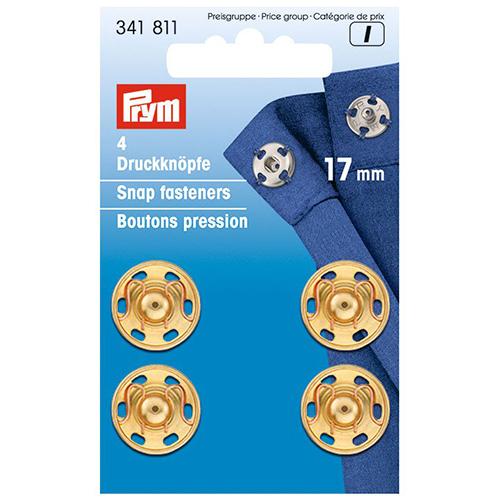 341811 Пришивные кнопки (латунь) золотистый цв. 17 мм Prym